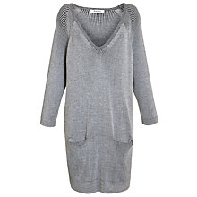 Buy Farhi by Nicole Farhi Ribbed Pocket Knitted Dress, Ecru/Black Online at johnlewis.com