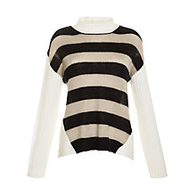 Buy Farhi by Nicole Farhi Mohair Mix Striped Jumper, Ecru/Navy Online at johnlewis.com