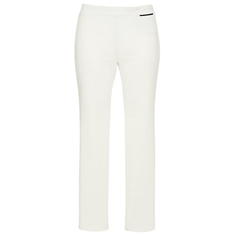 Buy Farhi by Nicole Farhi Corduroy Side Zip Trousers, White Online at johnlewis.com