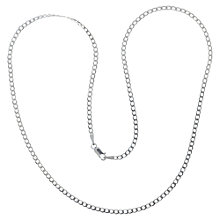 Buy Nina B Sterling Silver Flat Curb Chain Online at johnlewis.com