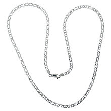 Buy Nina B Sterling Silver Medium Double Curb Chain Online at johnlewis.com