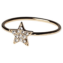 Buy Orelia Diamante Star Ring, Gold Online at johnlewis.com
