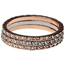 Buy Oreila Layla Mixed Plate Crystal Stacker Rings Online at johnlewis.com