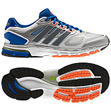 Buy Adidas Supernova Sequence 6 Men's Running Shoes, White/Blue Online at johnlewis.com