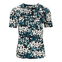 Buy CC Foxglove Print Top, Petrol Online at johnlewis.com