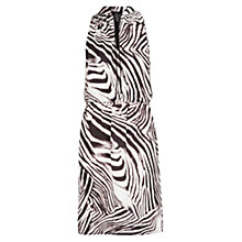 Buy Mango Zebra Print Dress, Black Online at johnlewis.com