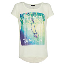 Buy Mango Printed T-Shirt, Yellow Online at johnlewis.com