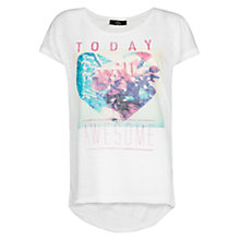 Buy Mango Printed T-Shirt, White Online at johnlewis.com