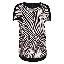 Buy Mango Zebra Print Top, Black Online at johnlewis.com
