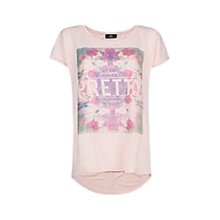 Buy Mango Printed T-Shirt, Medium Pink Online at johnlewis.com