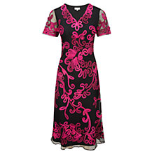 Buy CC Cornelli Fit and Flare Dress, Hot Pink Online at johnlewis.com