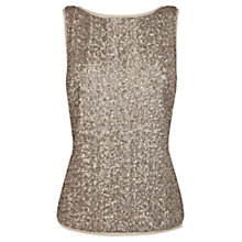 Buy Coast Odella Sequin Top, Gold Online at johnlewis.com