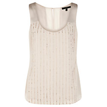 Buy Coast Ayesha Beaded Top, Blush Online at johnlewis.com