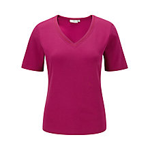 Buy CC V-Neck Basic T-Shirt, Hot Pink Online at johnlewis.com