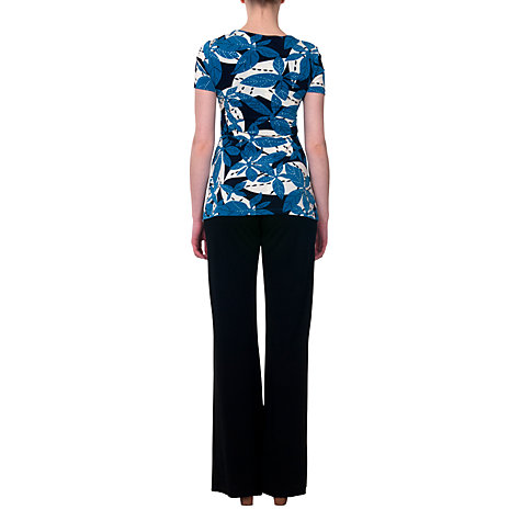Buy allegra by Allegra Hicks Ella Top, Leaves Blue Online at johnlewis.com