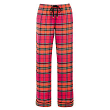 Buy DKNY Bright Checked Pyjama Bottoms, Pink Online at johnlewis.com