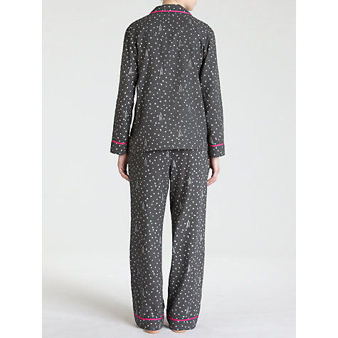 Buy DKNY Winter Magic Pyjama Set, Charcoal Online at johnlewis.com