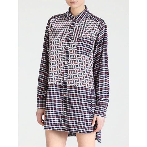 Buy DKNY Boyfriend Printed Nightshirt, Red/Blue Online at johnlewis.com