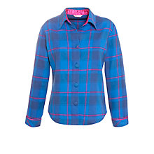 Buy Cyberjammies Sole Statement Checked Pyjama Top, Blue Online at johnlewis.com