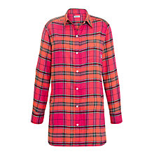 Buy DKNY Bright Checked Nightshirt, Pink Online at johnlewis.com