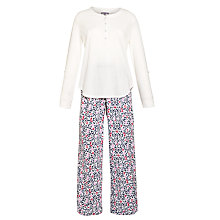 Buy John Lewis Flannel Animal Print Pyjama Set, Multi Online at johnlewis.com