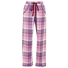 Buy Cyberjammies Blackberry Blush Checked Pyjama Bottoms, Purple/Pink Online at johnlewis.com