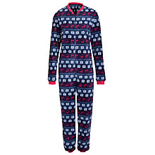 Buy John Lewis Fairisle Stag Onesie, Multi Online at johnlewis.com