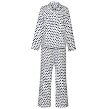 Buy Lola Rose Poodle Print Pyjama Set, Ivory / Blue Online at johnlewis.com