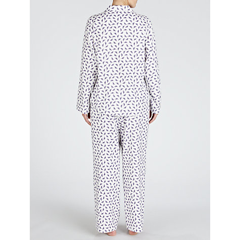 Buy Lola Rose Love Birds Pyjama Set, Ivory / Purple Online at johnlewis.com