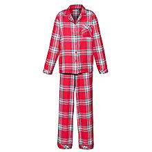 Buy John Lewis Check Pyjama Set, Pink/Multi Online at johnlewis.com