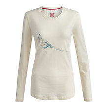 Buy Joules Hedgeford Jersey Top, Creme Online at johnlewis.com
