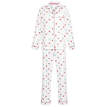 Buy John Lewis Flannel Stag Pyjama and Night Sock Set, Multi Online at johnlewis.com
