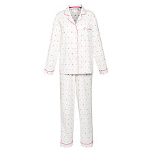 Buy John Lewis Flannel Snowflake Pyjama Set, Multi Online at johnlewis.com