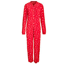 Buy John Lewis Star Print Onesie, Red / Ivory Online at johnlewis.com