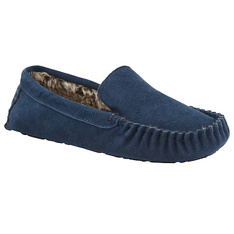 Buy John Lewis Alfie Suede Moccasin Slippers Online at johnlewis.com