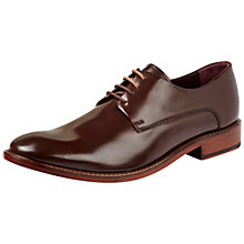 Buy Ted Baker Irron Etter 2 Leather Derby Shoes, Brown Online at johnlewis.com