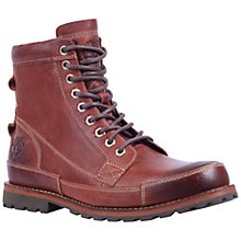 Buy Timberland Earthkeeper 6-Inch Leather Lace Up Boots, Red Brown Online at johnlewis.com