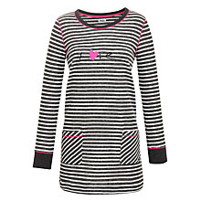 Buy DKNY Wonderland Striped Nightdress, Charcoal Online at johnlewis.com