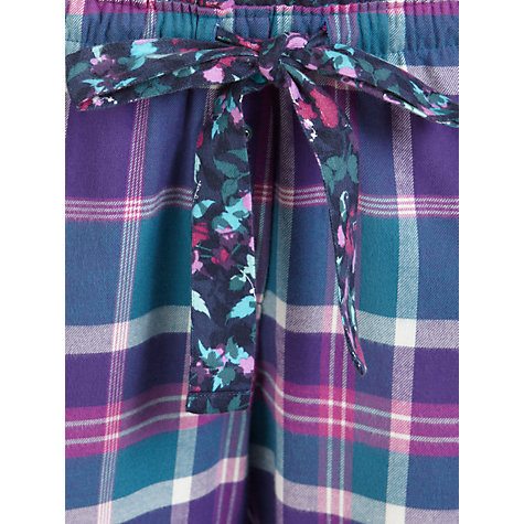 Buy Cyberjammies Majestic Checked Pyjama Bottoms, Purple/Blue Online at johnlewis.com