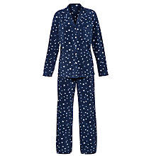 Buy John Lewis Fleece Star Pyjama Set, Navy / White Online at johnlewis.com