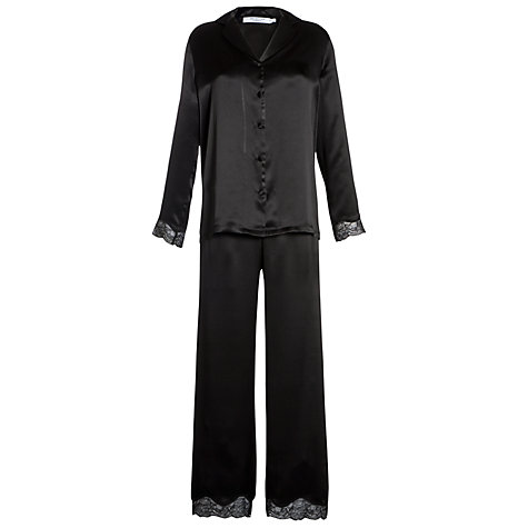 Buy COLLECTION by John Lewis Silk Pyjama Set, Black Online at johnlewis.com