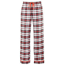 Buy DKNY Mad For Plaid Checked Pyjama Bottoms, Red Online at johnlewis.com