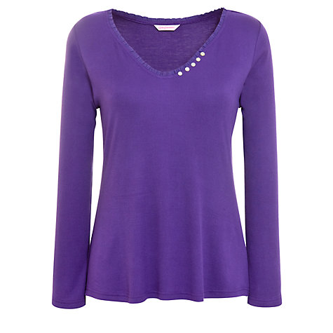 Buy Cyberjammies Majestic Long Sleeve Pyjama Top, Purple Online at johnlewis.com