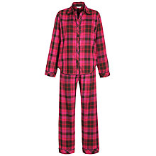 Buy Cyberjammies Check Pyjama Gift Set, Pink Online at johnlewis.com