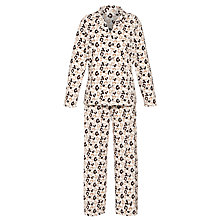 Buy John Lewis Fleece Animal Print Pyjama Set, Natural Multi Online at johnlewis.com