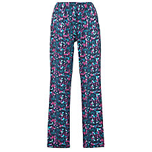 Buy Cyberjammies Majestic Floral Print Pyjama Bottoms, Purple/Blue Online at johnlewis.com