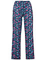 Cyberjammies Majestic Floral Print Pyjama Bottoms, Purple/Blue