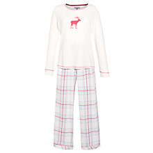 Buy John Lewis Jersey Flannel Stag Pyjama Set, Multi Online at johnlewis.com