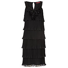 Buy Jacques Vert Beaded Dress, Black Online at johnlewis.com