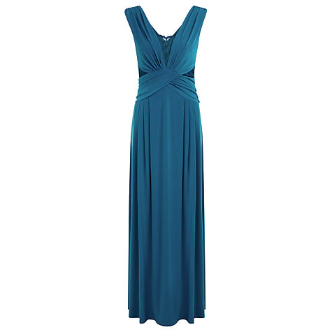 Buy Kaliko Lace Detail Maxi Dress, Green Online at johnlewis.com